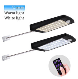 Remote contRolled outdooR lights online shopping - Solar Outdoor Wall Light LED PIR Motion Sensor Modes Solar Garden Lamp With Remote Control IP65 Security Lamp