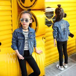 12 Jackets Canada - Kids Jackets Girls Teenage New Fashion Long Sleeve Autumn Jeans Jackets Toddler Girl Clothing 2018 Denim Kids Outwear 8 9 10 12