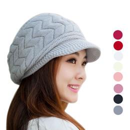 $enCountryForm.capitalKeyWord Canada - Hot Sale Elegant Women Knitted Hats Rabbit Fur Cap Autumn Winter Unisex Male Female Fashion Skullies Warm Velvet Hat Wholesale