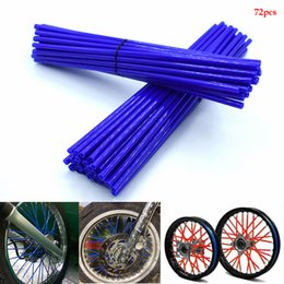 motorcycle spokes UK - For New Motorcycle 72 Pcs Wheel Rim Spoke Wrap Kit Skin Cover For MX Motocross Dirt Pit Bike Enduro Supermoto Honda Suzuki KTM