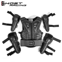 children kits NZ - SX081 Motorcycle Armor Armor Jacket Child Protective Kits Sports Knee Elbow