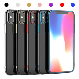 Nextel battery online shopping - Premium Hybrid TPU Alloy Plating Case For iPhone X XR XS XS Max Samsung Galaxy Note Note S8 S9 Plus