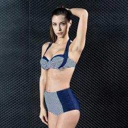 90bc978fc2ee3 New Women Summer Swimwear Split Triangle Chest Pad Spa Professional Swimsuit  Sexy Slim Bikinis Two-piece BIkini Set High Quality Plus Size