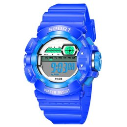 China SB0055 children's indoor outdoor Required Boy Girl Alarm Date Digital Multifunction Sport LED Rubber Wrist Watch Relogio L30 cheap resin modern watches suppliers