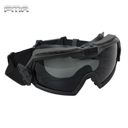 $enCountryForm.capitalKeyWord NZ - FMA LPG01BK12-2R Regulator Goggle With Fan Updated Version Tactical Paintball Safety Eye Protection Glasses Eyewear