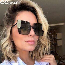 Unique Sunglasses Brands Australia - Steampunk Goggles Sunglasses 48008 Luxury Colorful Square Sun Glasses Men Women Unique Shades CCSPACE Brand Glasses UV400 D18102304