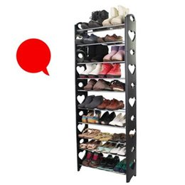 Shoe department online shopping - High Capacity Shoes Cabinet Student Department Multi Storey Shoe Rack Plastic Originality Simple Storage Holders Household pc gg