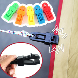 TenT clips online shopping - Plastic Tent Fixed Buckle Multi Function Windproof Mini Alligator Clip Heavy Duty Tarpaulin Clips For Outdoor Camp gt B