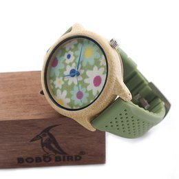 Japanese dress buckle online shopping - watches simple BOBO BIRD B04 Women Dress Wooden watches Silicon Quartz Watch for Ladies Japanese movement With Gift Box
