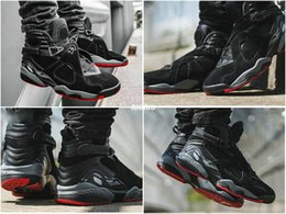 2351740151b5ff Air Retro 8 Champion Black Cement Bred Men Basketball Shoes Black Red  Retros 8s Mens Sports Trainers Athletic Sneakers US 7 - 13 305381-022