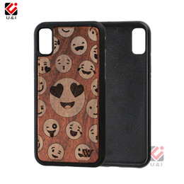 $enCountryForm.capitalKeyWord NZ - Smilling face wood phone case for iPhone x i Phone 10, hybrid solid rosewood hard pc back soft tpu rubber multi layer cover