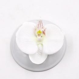 $enCountryForm.capitalKeyWord Australia - Wedding 100pcs Artificial Flower High Quality Silk Butterfly Orchid Head For Wedding Car Home Decoration Diy Flores Cymbidium Handmade
