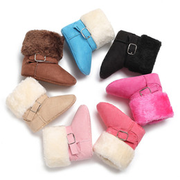 $enCountryForm.capitalKeyWord UK - New Hot Baby Girl child Soft Booties Snow Solid Cashmere Boots Toddler Warm Shoes baby boots girl baby winter shoes Plush