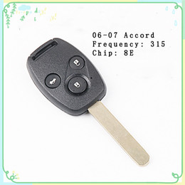 controller chip NZ - FOR 06-07 Honda Accord 3 Button One Remote Controller Car Chip Key