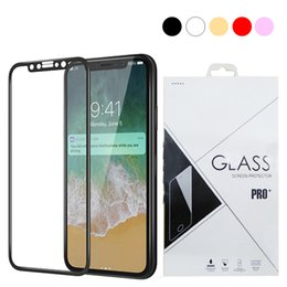 $enCountryForm.capitalKeyWord NZ - 3D Round Edge full cover Screen Protector Drop Proof HD Clear Tempered Glass for iPhone X 7 7 plus 8 8 Plus Black white Gold Rose Gold