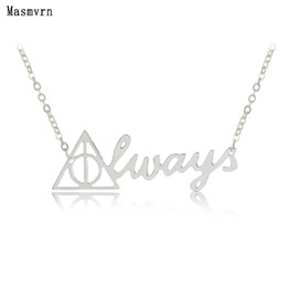 Discount harry potter necklace hallows - whole saleFashion Vintage Triangular Harry Always Necklace Pendant Death Hallows Necklaces Pendants Potter For Women Wed