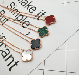 Necklaces Pendants Australia - VAN1 S925 sterling silver clover pendant necklace for women 1.5cm quatrefoil middle drill with multicolor shell agate clover flower necklace