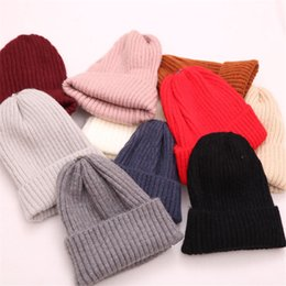 Wholesale Men s and women s parent child wool knit hat British headgear simple cold warm hat