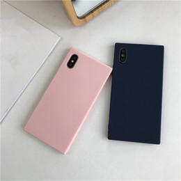 Dark blue matte online shopping - Candy Color TPU Matte Phone Case For Iphone X XR XS MAX Plain Soft Silicone Case For Iphone Plus
