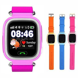 Lost tracks online shopping - Q90 Bluetooth GPS Tracking Smartwatch Touch Screen With WiFi LBS for iPhone IOS Android SOS Call Anti Lost SmartPhone Wearable Device in Box