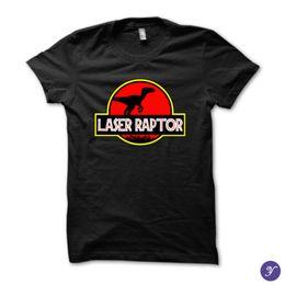 $enCountryForm.capitalKeyWord NZ - Laser Raptor Tshirt Kung Fury, Funny, 80S, Parody, Hackerman, Retro Tees Shirt Men's Summer Custom Short Sleeve Big Size Couple Tshirt