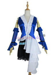 Wholesale woman costumes fantasy for sale – halloween Final Fantasy XII Cosplay Yuna Lenne Song Dress Costume H008