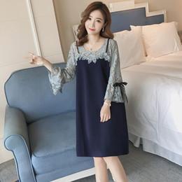 edfd2a59e 6637   vestido de maternidad de encaje Sweet Hollow Out 2018 ropa de moda  de verano de primavera para mujeres embarazadas trabajo de oficina ropa de  ...