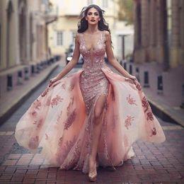 Customized Skirts NZ - 2018 Stylish Mermaid Wedding Dresses Scoop Sleevless Overskirts wedding dresses Appliques Illusion Back Formal Customized Boho Bridal Gowns