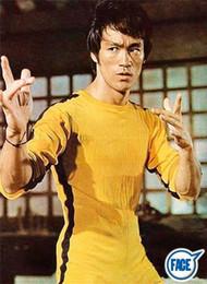 2018 Nueva Jeet Kune Do Juego de los uniformes de la muerte del traje del mono de Bruce Lee Kung Fu amarillo clásico Cosplay JKD en venta