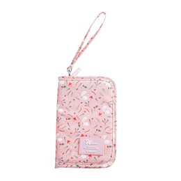 $enCountryForm.capitalKeyWord UK - Flower Printing Coin Pouch & Purse for Girls, Small Zipper Card Case Wallet as Change Holder & Money Bag or Cell Mobile Phone