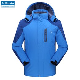 fc54b8524f3 Men ski jacket Mountain Thicken Plus Size Fleece Ski-wear Waterproof Hiking  Outdoor Snowboard Jacket Windproof Snow