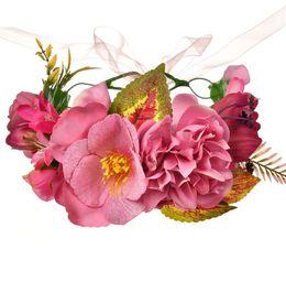 $enCountryForm.capitalKeyWord Australia - Girls princess flowers crown bohemian simulation flowers garden wedding wreath children pageant garlands chirstmas hair accessories F0628