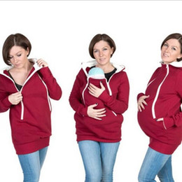 2 in 1 Maternity Sweaters Quality Parenting Child Autumn Winter Three Features Mother Kangaroo Hoodie Women Pullovers Mother Clothes QZZW101
