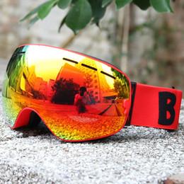Discount ski big goggles - UV400 Anti-fog Double Layers Ski Goggles Big Lens Men Ski Mask Glasses Skiing Snow Snowboard Eyewear Mirror Coating Gogg