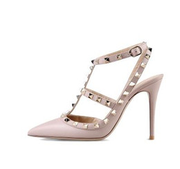 China tailor made* high quality!u569 34 40 genuine leather pointy rivets heels sandals v pumps luxury designer 8 cm fashion shoes 2018 530 suppliers