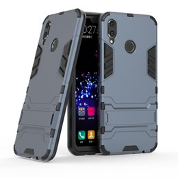 Chinese  For Huawei P30 P30 LITE P30 PRO Y6 Y7 2019 Y6 PRO 2019 Honor V20 Hybrid KickStand Anti Shock Defender Armor Case TPU+PC cover 170P manufacturers