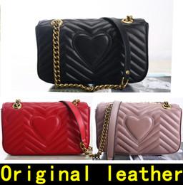 Marmont bag 443497 Luxury Handbags high quality Designer Handbags Original soft  Sheepskin Genuine Leather women Shoulder Bags Come with BOX 252d47663fbda