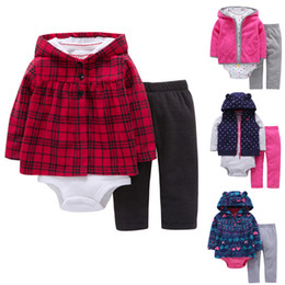 729fe4a32 Baby carter s Girl set Clothing 3-Piece Bodysuit Hooded Long Sleeve Outwear  Pants set Girl Clothing