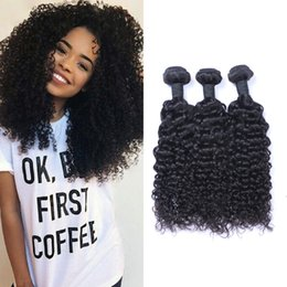 Malaysian jerry curl hair online shopping - Malaysain Jerry Curl Unprocessed Human Virgin Hair Weaves A Quality Remy Human Hair Extensions Human Hair Weaves Dyeable bundles
