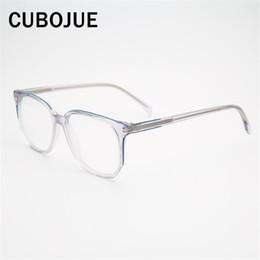 0ed7f6c1c9 Brand Transparent Glasses Men Women Square Acetate Eyeglasses Frames Man  Female Points for Diopter Prescription Eyeglass Clear