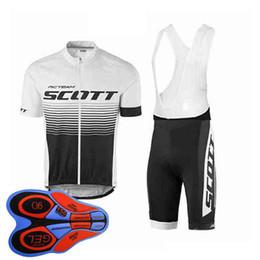 Scott team Cycling Short Sleeves jersey (bib) shorts sets cycling clothing  breathable outdoor mountain bike Sportswear 92836J 82a31fb59
