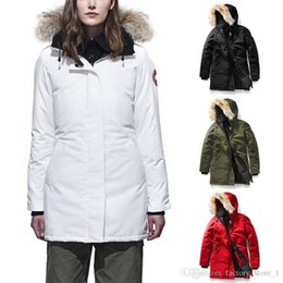 Wholesale Women Canada New Arrival Sale Women s Guse Chateau Black blue Jacket Winter Coat Parka Sale With Outlet XS XXXL