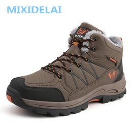 $enCountryForm.capitalKeyWord NZ - MIXIDELAI Winter Plush Warm Snow Boots For Men Sneakers Male Shoes Adult Non Slip Rubber Casual Waterproof Unisex Ankle Boots