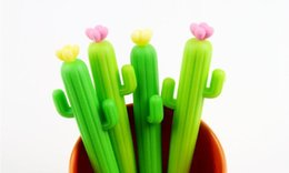 $enCountryForm.capitalKeyWord Canada - Cheap Price Free Shipping Green Colore Cactus Neutral 0.5mm Gel Ink Pen Plastic Material 48pcs lot GP135