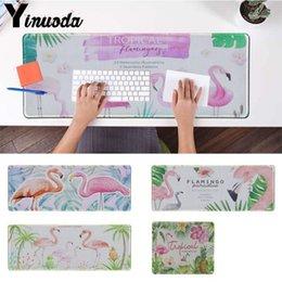 Yinuoda Acquerello Pianta lascia flamingo Gamer Speed Mouse Piccolo Rubber Mousepad Dimensioni per 30x90cm e 40x90cm Gaming Tappetini per il mouse