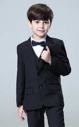 F Suits NZ - Custom-made exquisite fashion boy and child suit, suit set three-piece suit (coat + pants + vest), a variety of colors and sizes to choose f