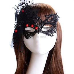$enCountryForm.capitalKeyWord Australia - Newest Sexy Flowers Lace Party Masks Girls Women Masquerade Mask Venetian Half Face Mask Christmas Halloween Cosplay Eye Masks WX-M14