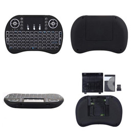 Discount backlight touchpad keyboard - 2.4G 3 Colors Backlit Backlight Mini i8 Wireless Touchpad Keyboard Air Mouse Remote Controller for PC Pad Android TV Box