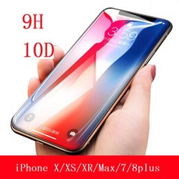 $enCountryForm.capitalKeyWord NZ - 9H Screen Protectors for IPhone XS XR MAX 10D Tempered Film Apple 7Plus Surface Full Cover Mobile Film 6S Stealed Glass Film