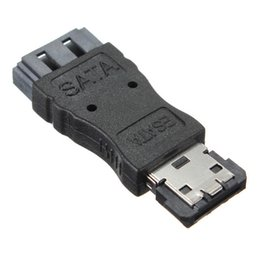 Wholesale Portable SATA Female Jack to ESATA Male Plug Convert Convertor Adapter Connector For HDD Hard Drive